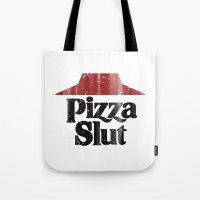 Vintage Pizza Slut Print Tote Bag