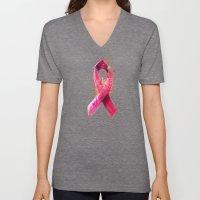 Breast Cancer Ribbon Unisex V-Neck
