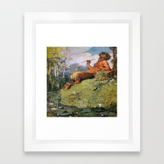 The Great God Pan by Norman Price Framed Art Print