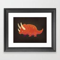 Triceratops! Framed Art Print