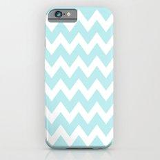 Turquoise Aqua Blue Chev… iPhone 6 Slim Case