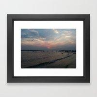 West Neck Sunset Framed Art Print