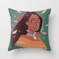 Pocahontas Portrait Throw Pillow