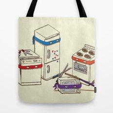 Teenage Mutant Ninja Kitchen Appliances Tote Bag