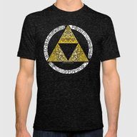 Zelda - Triforce Circle Mens Fitted Tee Tri-Black SMALL