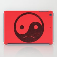 yin yang smiley ;-( iPad Case