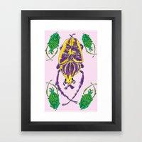 Bugs Pattern Framed Art Print