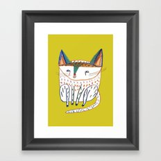 Cat. cats, kitten, cat art, cat illustration, cat pattern Framed Art Print