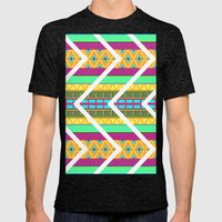 Vibrance Mens Fitted Tee Tri-Black SMALL