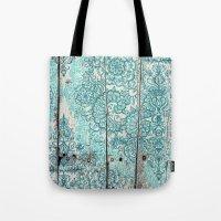 Teal & Aqua Botanical Do… Tote Bag