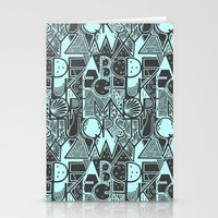alphabet Stationery Cards featuring Alphabet by Clare Corfield Carr