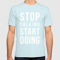 Do It! Mens Fitted Tee Light Blue SMALL
