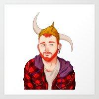 Bear - Ginger Art Print