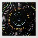 Rainbow Record on Black Closeup Canvas Print