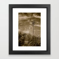 Slow Down Framed Art Print
