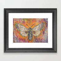 like moth to a flame Framed Art Print