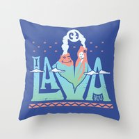 One Lava Throw Pillow