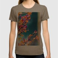 Happy Autumn Colors 2 Womens Fitted Tee Tri-Coffee SMALL