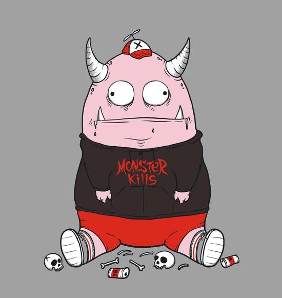 Pink Monster Kills Art Print