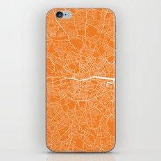 Dublin Map Orange iPhone & iPod Skin