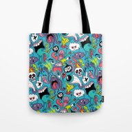 Tote Bag featuring Doodled Pattern by Chris Piascik