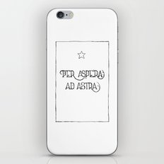 Per Aspera Ad Astra iPhone & iPod Skin