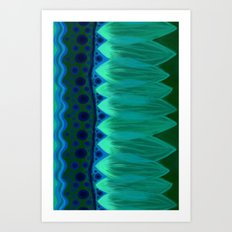 Blue Lotus Petals Art Print