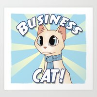Business Cat! Art Print