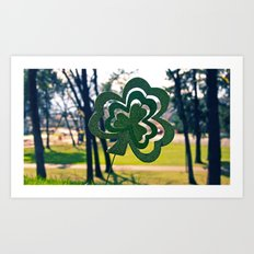Symbol of luck Art Print
