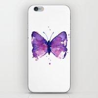 Butterfly Purple Watercolor iPhone & iPod Skin