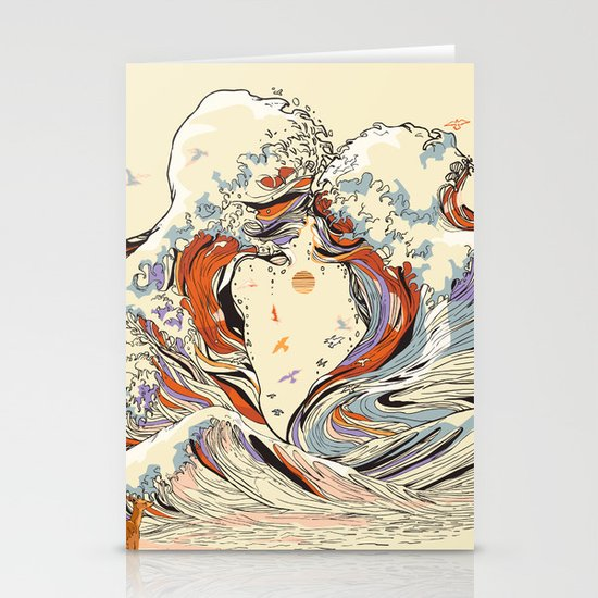 The Wave of Love Stationery Card