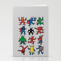 Keith Superheroes Stationery Cards