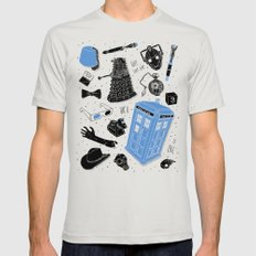 Artifacts: Doctor Who Mens Fitted Tee Silver SMALL