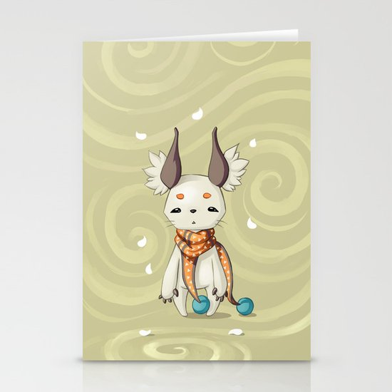 Fluffy Ears Stationery Card