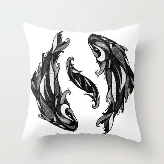 Signs of the Zodiac - Pisces Throw Pillow