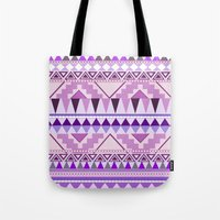 Aztec; Purple Dreams Tote Bag