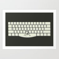 Art Print featuring SPACEBAR by Tomas De Santis