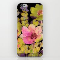 Pink Flowers And Foliage… iPhone & iPod Skin
