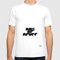 Now Or Never Mens Fitted Tee White SMALL