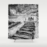 Storm - Ink Shower Curtain