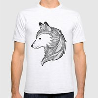 Wolf Mens Fitted Tee Ash Grey SMALL