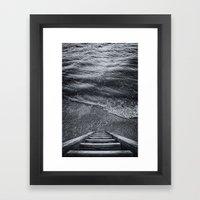 Steps To The Sea Framed Art Print