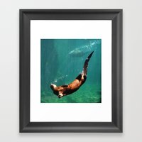 Everybody Otter Have Shi… Framed Art Print