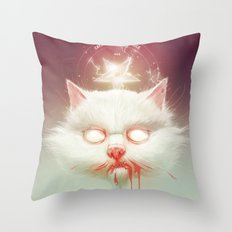 The Hell Kitty Throw Pillow