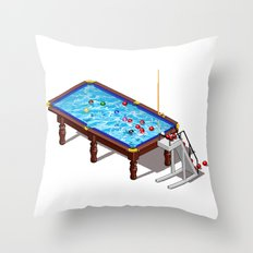 it`s Not Pool it`s Snooker Throw Pillow