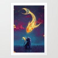 MAGICAL GOLDFISH Art Print