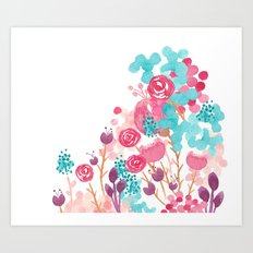Blush Blossoms Art Print
