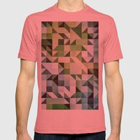 :: geometric maze II :: Mens Fitted Tee Pomegranate SMALL