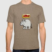 GRONK! Mens Fitted Tee Tri-Coffee SMALL