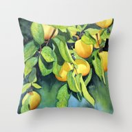 Golden Delicious Throw Pillow